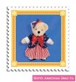 Muffy Bear Red, White & Blue Charm by North American Bear Co. (5907)