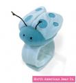 Blue - Ladybug Wrist Rattle by North American Bear Co. (8270-B)