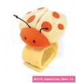 Orange - Ladybug Wrist Rattle by North American Bear Co. (8270-O)