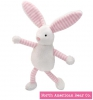 Baby Long Legs Pink Bunny Squeaker by North American Bear Co. (6263)