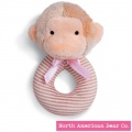 First Friends Monkey Ring Rattle by North American Bear Co. (6317)