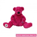 Amy Coe by North American Bear Plush Bear Little Gigi Pink (6706)