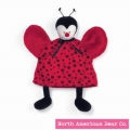 Baby Bed Bugs Puppet Cozy Ladybug by North American Bear Co. (4214)