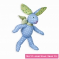 Calico Cottontail Blue Bunny by North American Bear Co. (3996)