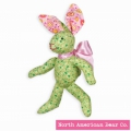 Calico Cottontail Green Bunny by North American Bear Co. (3995)