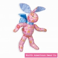 Calico Cottontail Pink Bunny by North American Bear Co. (3994)